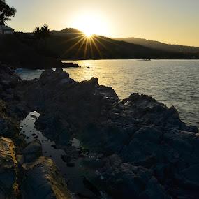 :: Nine Flare Behind Hill :: by Putu Ekak - Landscapes Sunsets & Sunrises