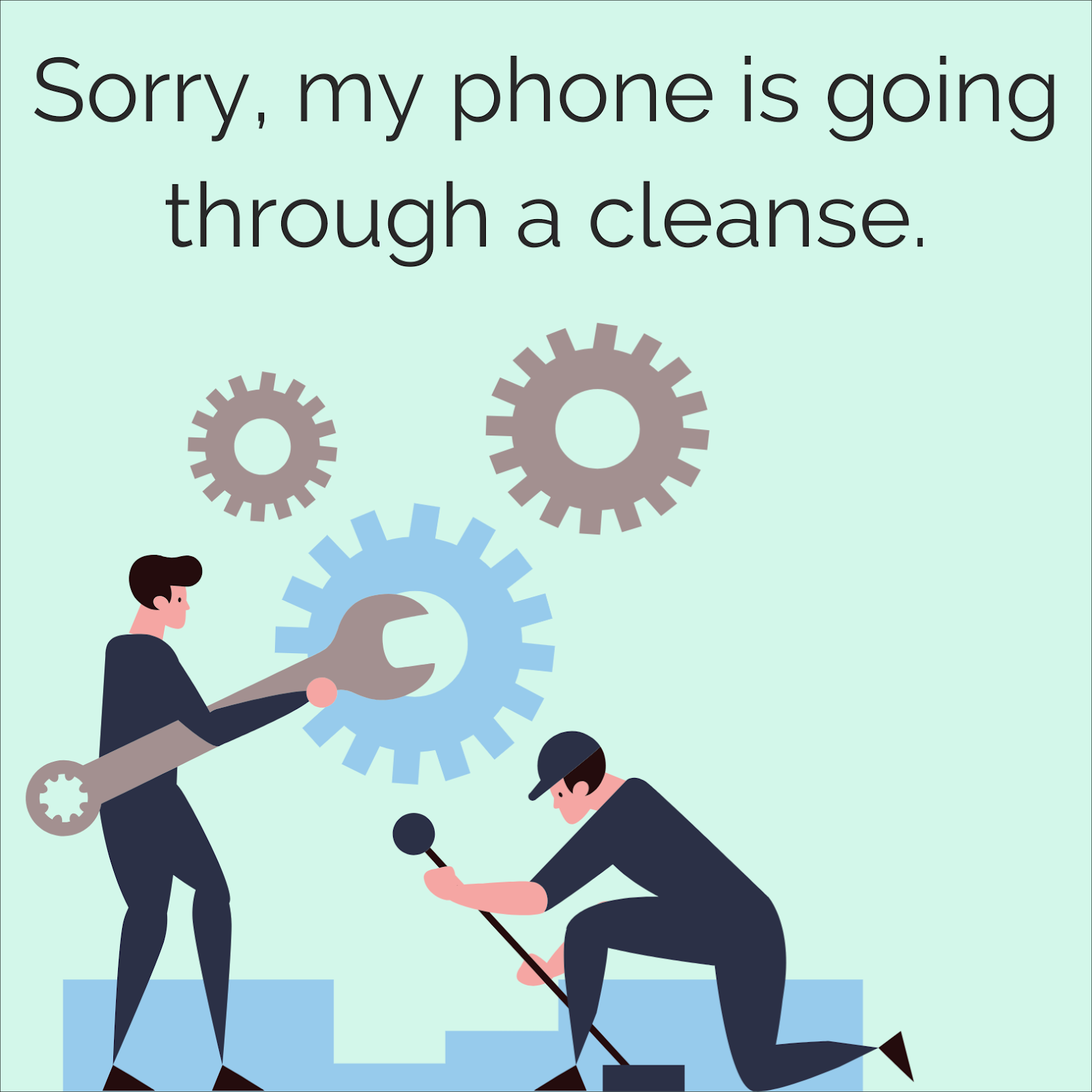 Decluttering your phone.