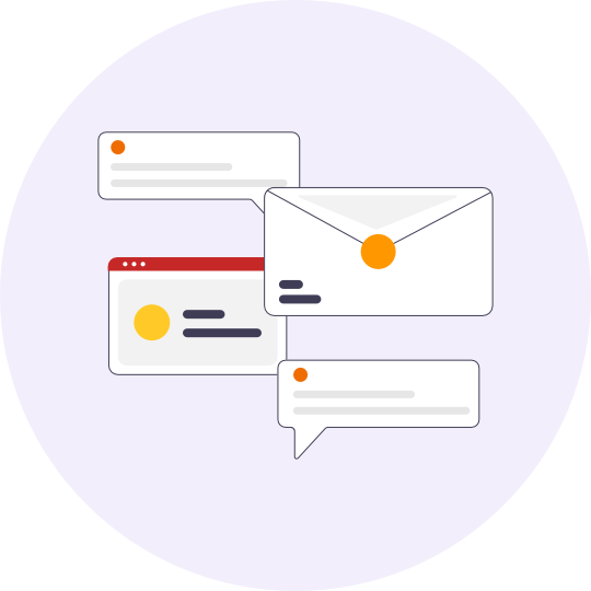 Lots of notifications that Flowall's communication workflow helps you declutter