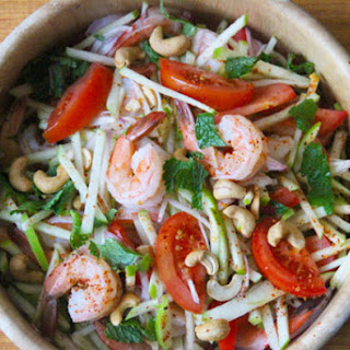 Spicy Shrimp and Green Apple Salad.