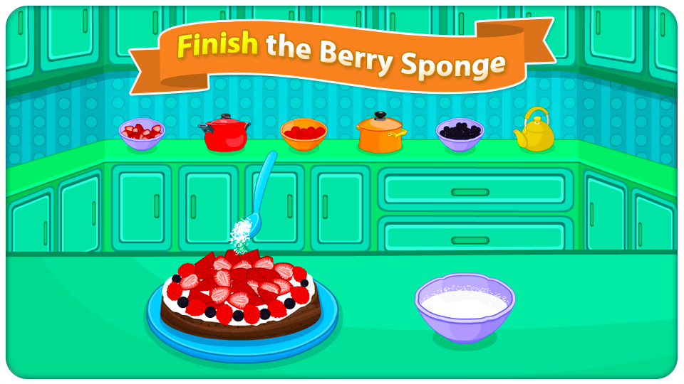 Berry Sponge Cooking Games- screenshot