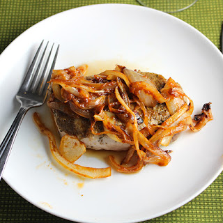 Cumin Sage Rubbed Pork Chops with Onion Sauce