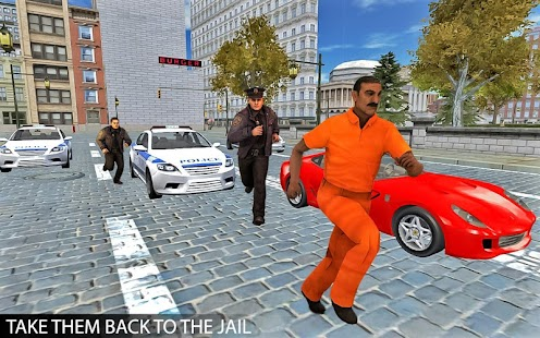 Drive Police Car Gangsters Chase : Free Games Screenshot