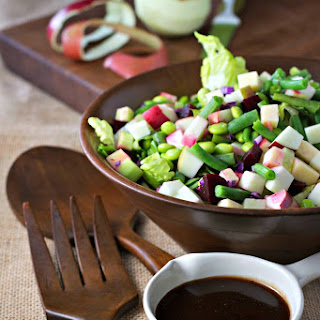 Chopped Apple Salad With Pomegranate Vinaigrette