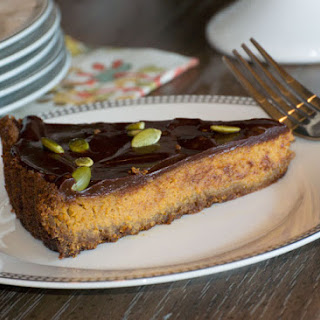 Pumpkin Tart with Chocolate Ganache