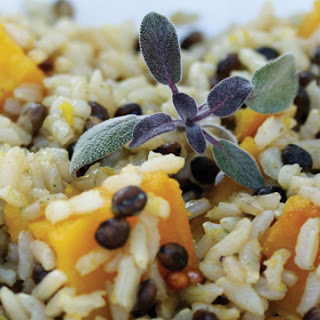 Wild Rice with Kabocha Squash and Sage Butter
