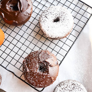Spiced Orange Chocolate Doughnuts.