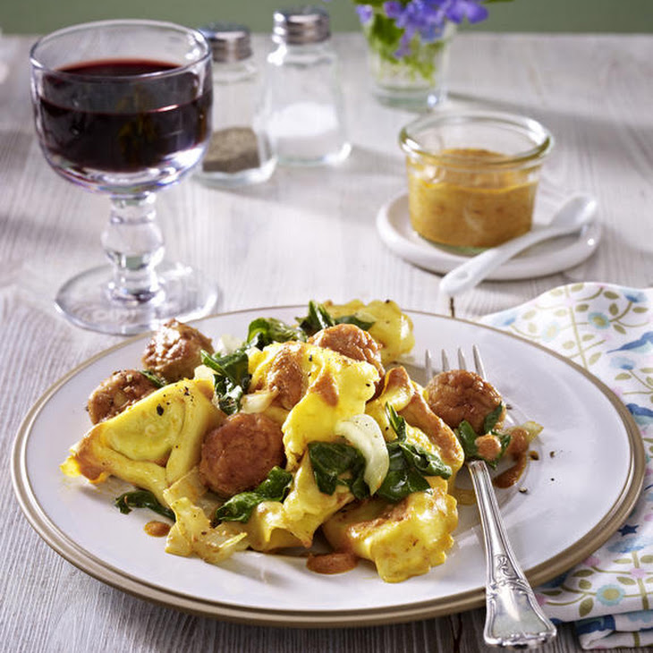 Tortellini with Sausage and Swiss Chard