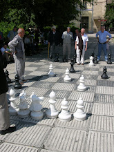 Photo: Old guys playing chess in Sarajevo (all day)