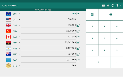Currency Converter Plus Screenshot
