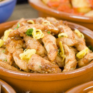 Tender Garlic Lemon Chicken Strips.