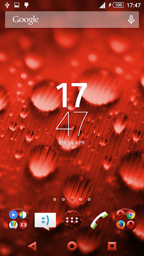 Theme Xperien Dew Drops Red