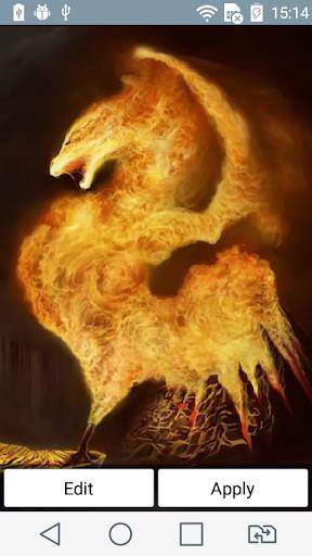 Volcanic dragon live wallpaper