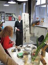 """Photo: """"bambou"""" encre de chine sur papier de murier"""
