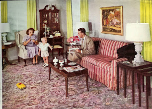 Photo: 1949 This is from an ad for Alexander Smith Carpet.