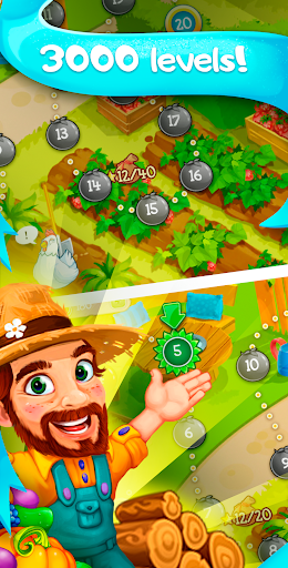 Funny Farm match 3 Puzzle game! - screenshot