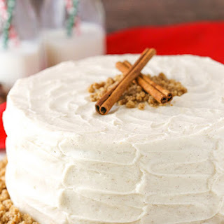 Spice Cake with Cream Cheese Frosting.