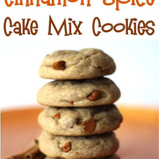 Cinnamon Spice Cake Mix Cookies.