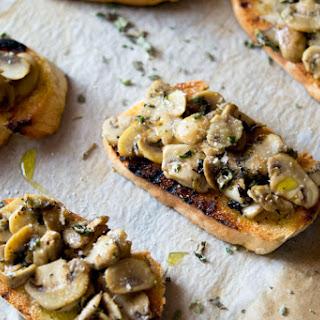 Parmesan Mushroom Crostini.