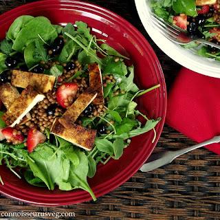 Balsamic Summer Berry + Wheat Berry Salad.