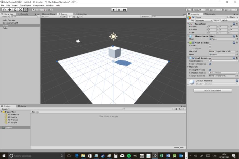 بناء ثاني لعبة 3D عبر محرك Unity