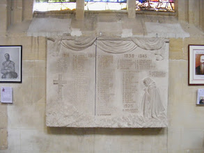 Photo: War memorials inside churches are a common feature in many French towns.