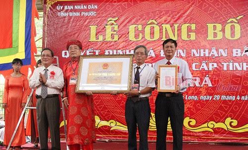 Miếu Bà Rá đón nhận bằng xếp hạng Di tích cấp tỉnh