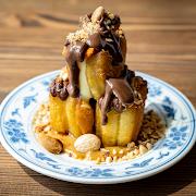 CHOCOLATE DIPPED CHINESE DOUGHNUT