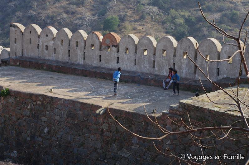 Kumbhalgarh, marelle sur les remparts
