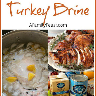 Turkey Brine Recipe & Holiday Menu Planning