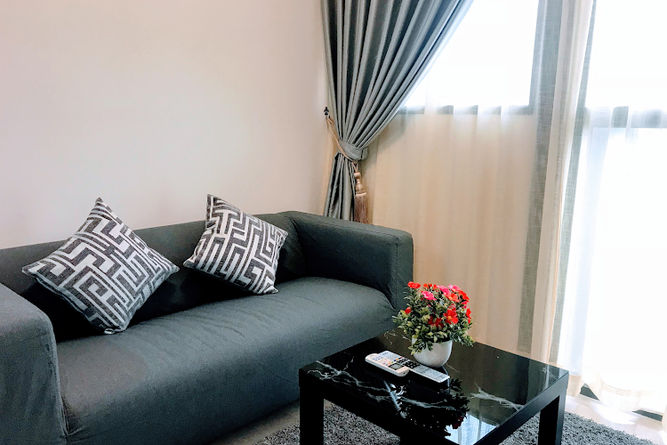 Living area at Commonwealth Ave Residences