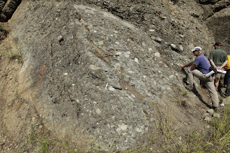 Photo: Stop 6 - Conglomerate - Swauk Formation
