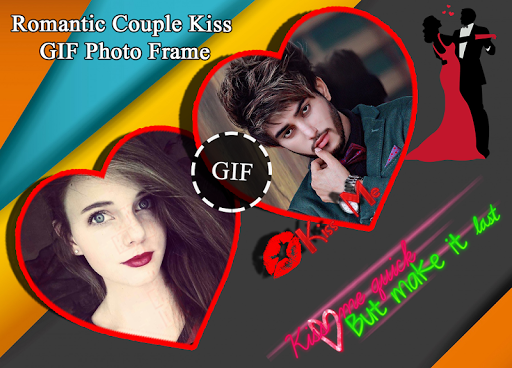 Romantic Couple Kiss Gif Photo Frame 2018 1.1 screenshots 2