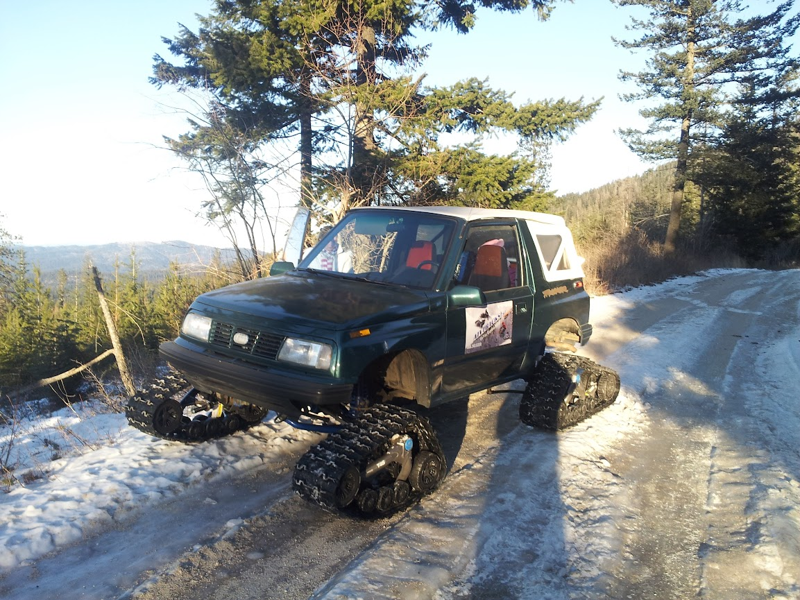 1990 suzuki sidekick with camoplast utv snow tracks build thread suzuki forums suzuki forum site
