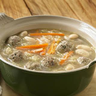 Meatball, Bean and Sauerkraut Soup.