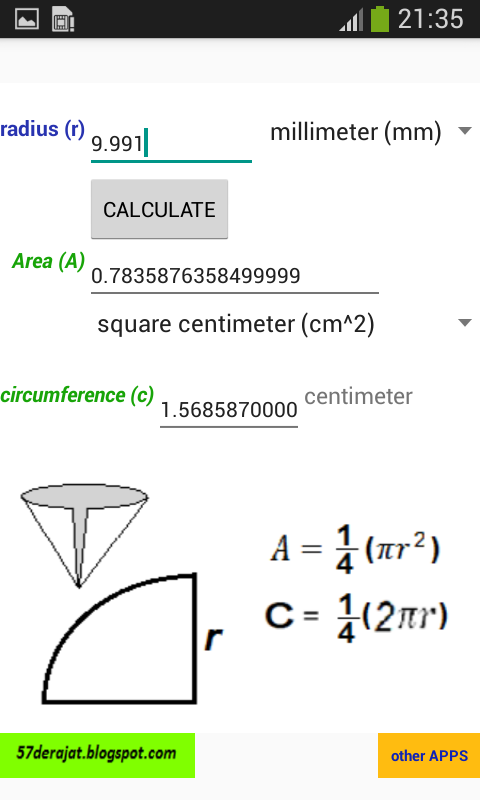 how to find circumference with area