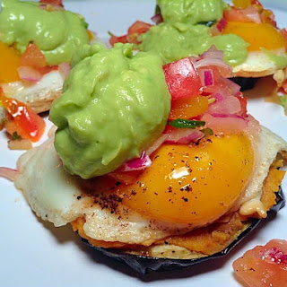 Mexican Style Egg on Grilled Eggplant Recipe