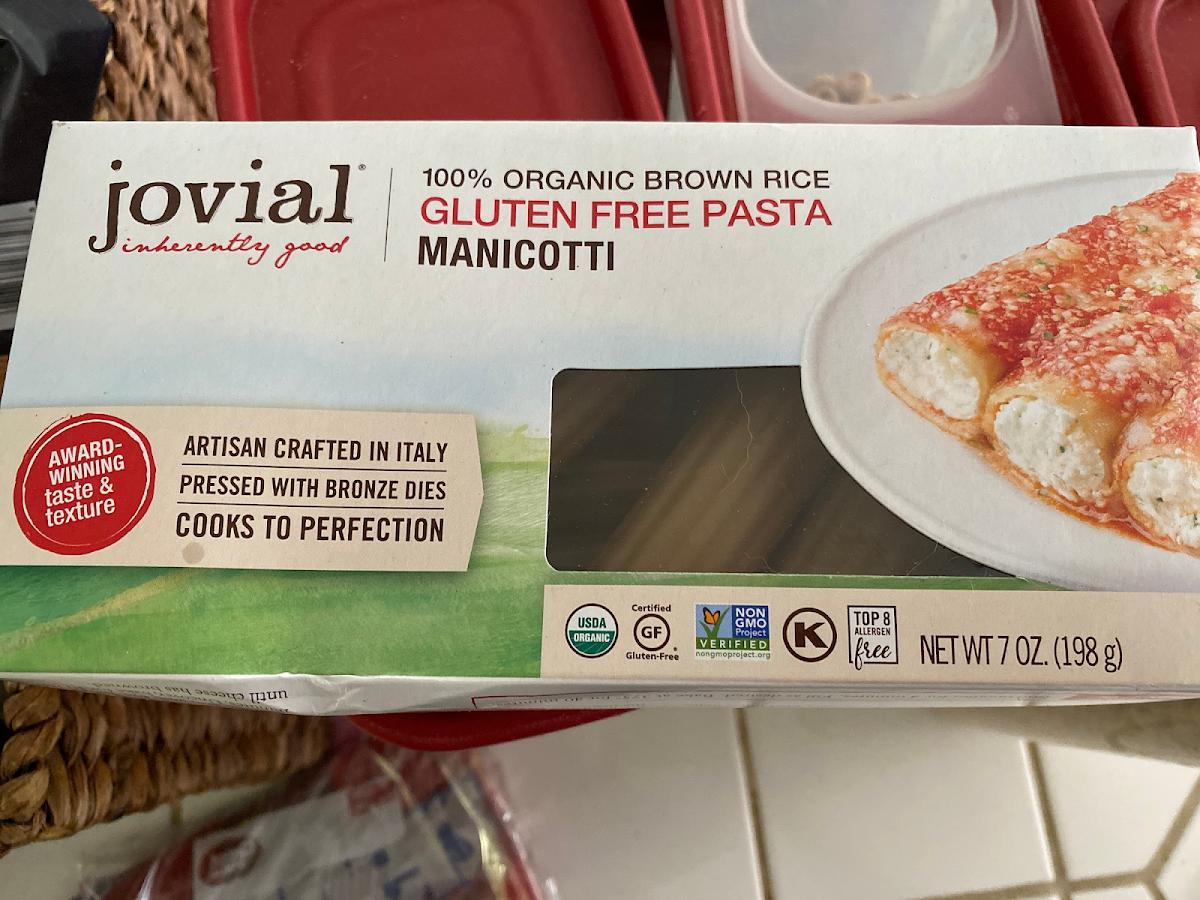 Gluten Free Manicotti