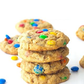 Monster M&M Peanut Butter Cookies.