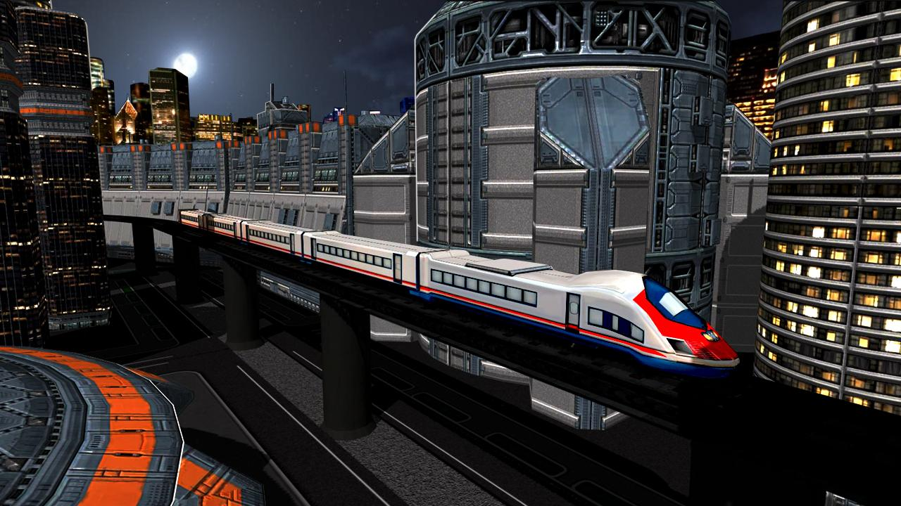 Impossible Indian Train Driving Game Sky City Sim- screenshot