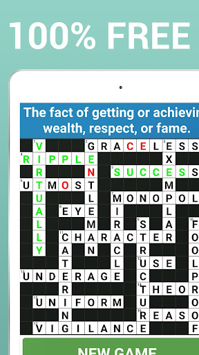 Crossword Puzzle Free Classic Word Game Offline screenshots 14