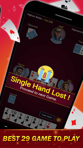 29 Card Game ( twenty nine ) Offline 2020 3.8 screenshots 13