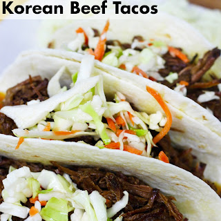 Slow Cooker Korean Beef Tacos.