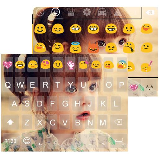 Cute Photo Emoji Keyboard Skin