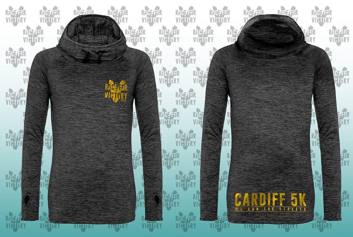 Cardiff 5K - Black Unisex Cowl Neck Top