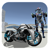 Police Moto Robot Fight Simulator Game