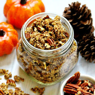 Pumpkin Spice and Pecan Granola (Vegan, Gluten-Free, Dairy-Free, No Refined Sugar)
