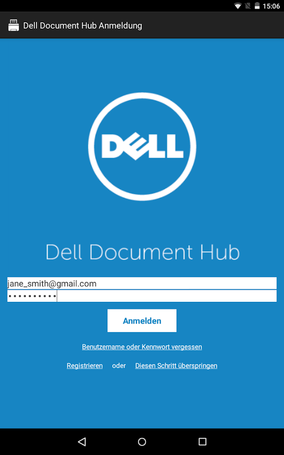 Dell Document Hub – Screenshot