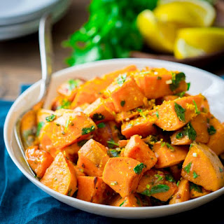 Roasted Sweet Potatoes With Citrus Dressing {paleo And Gluten-free}
