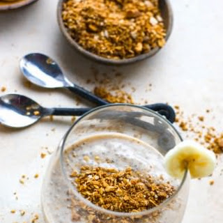 Ginger Molasses Banana Chia Pudding {Vegan }